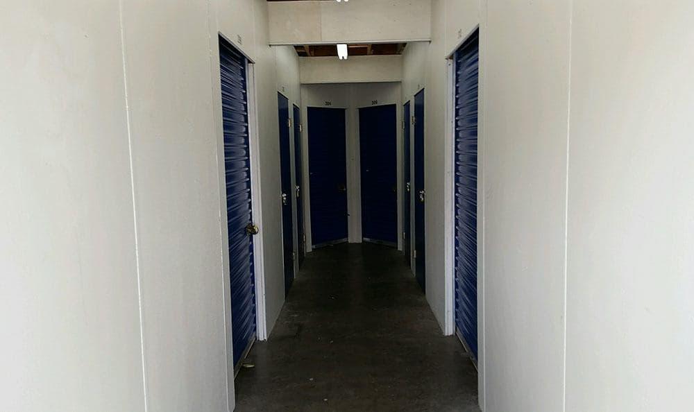 Inside self storage in Mill Creek