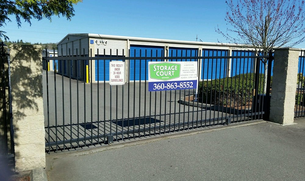 Gated entry in Monroe self storage