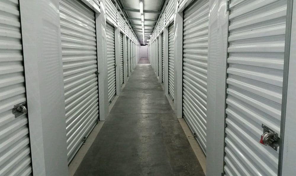 Inside storage units in Monroe