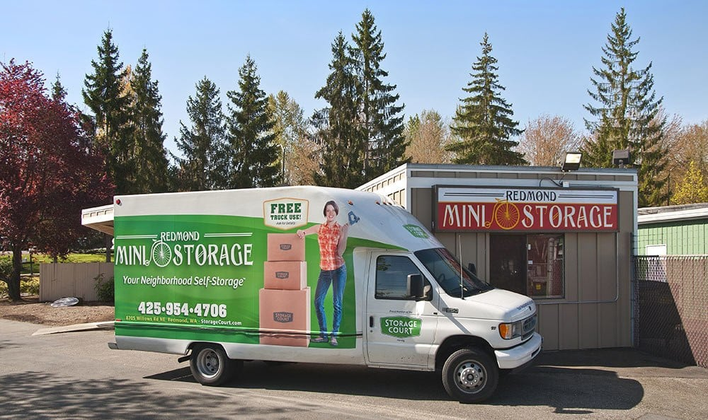 Free rental truck at self storage in Redmond