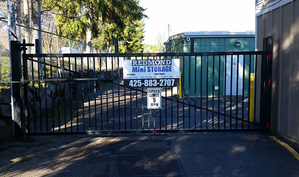 Gated access at self storage in Redmond