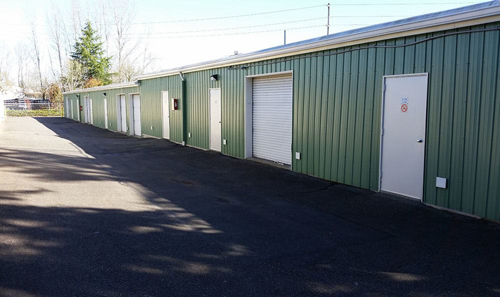 Outside storage units at Redmond self storage