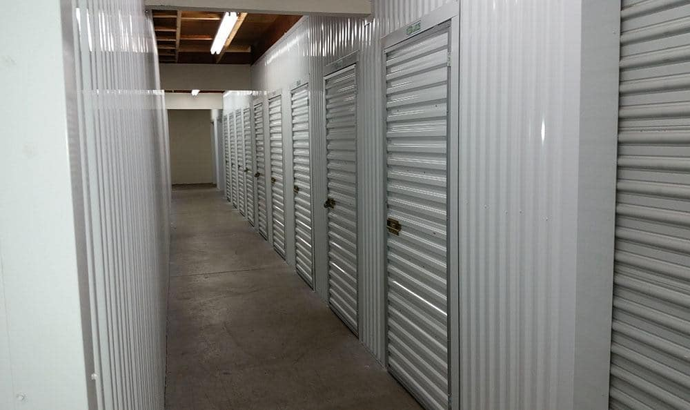 Inside storage units at Shoreline