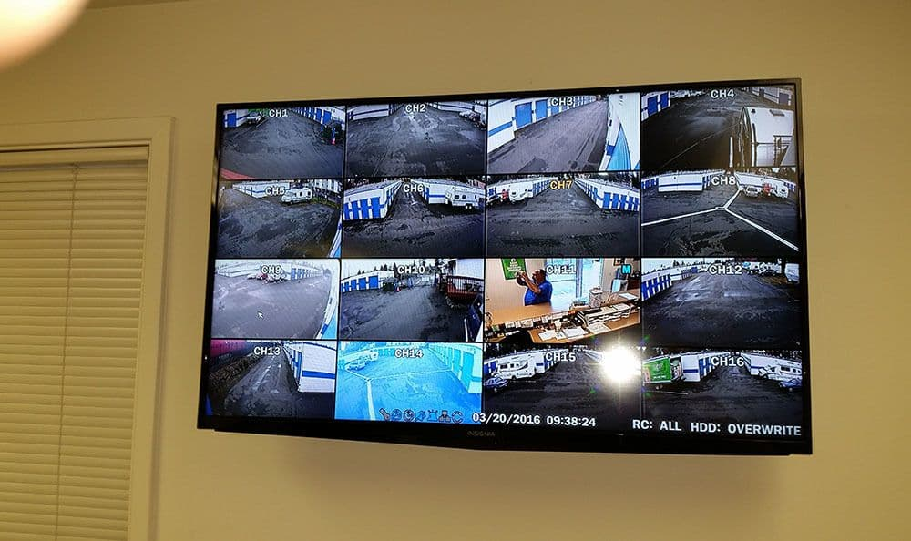 Surveillance video at Shoreline self storage