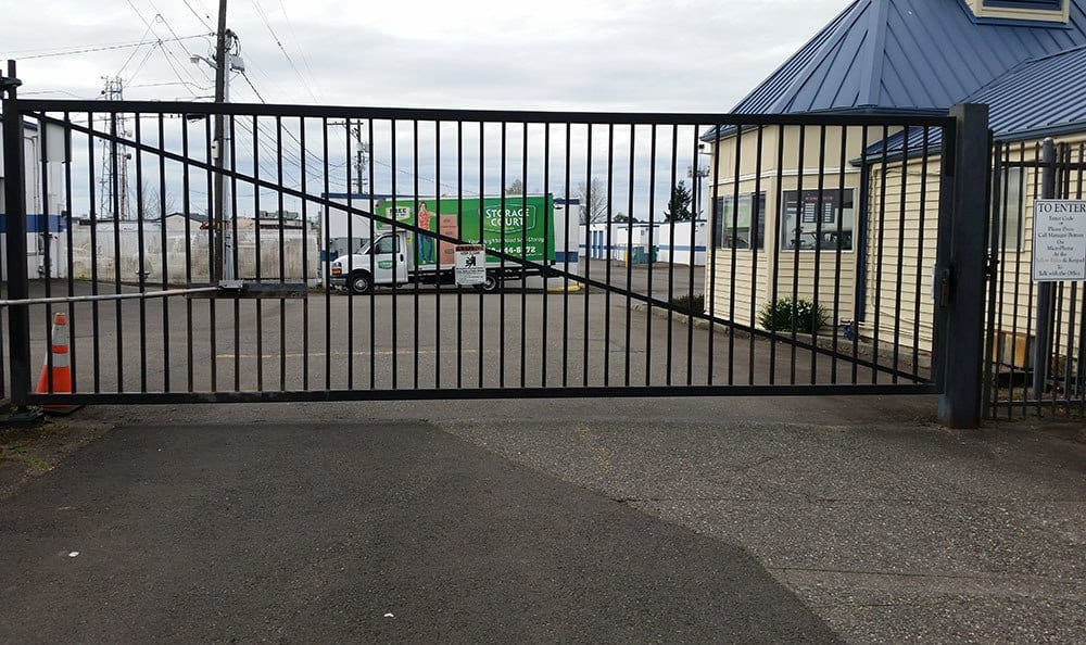 Gated entry at Tacoma self storage