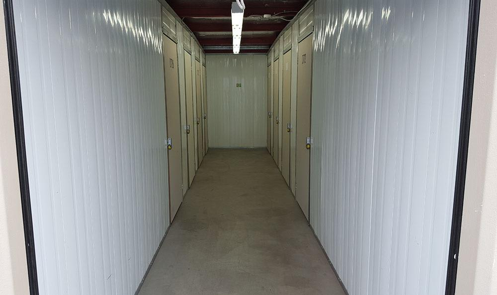 Inside self storage units in Yakima