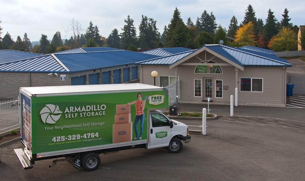 Enjoy free truck rental at self storage in Edmonds