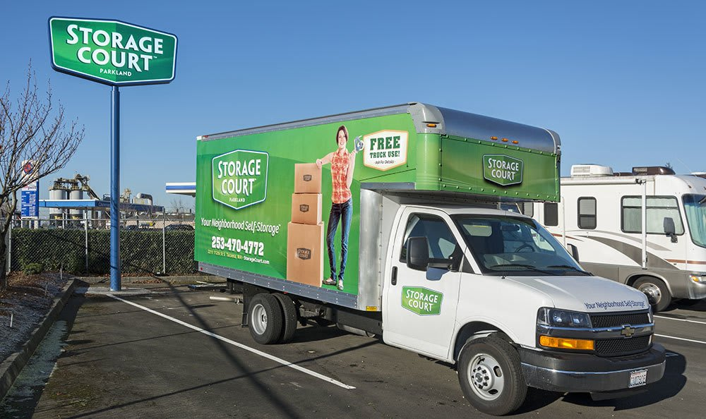 Free rental truck at self storage in Parkland