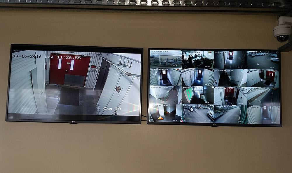 Surveillance camera at Parkland self storage