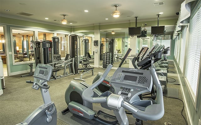 Fitness Center At Apartments In Humble Texas