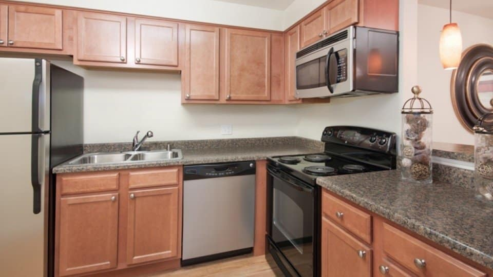 Kitchen At Apartments In Denver Colorado