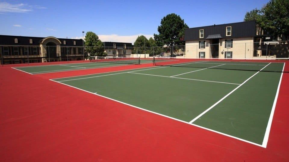 Tennis Courts At Apartments In Denver Colorado