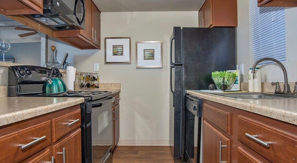 Kitchen at Advenir at Del Arte in Aurora, CO