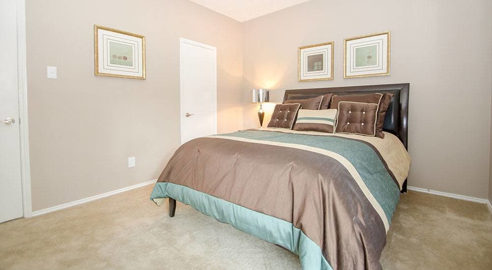 Master Bedroom at the apartments for rent in Grapevine