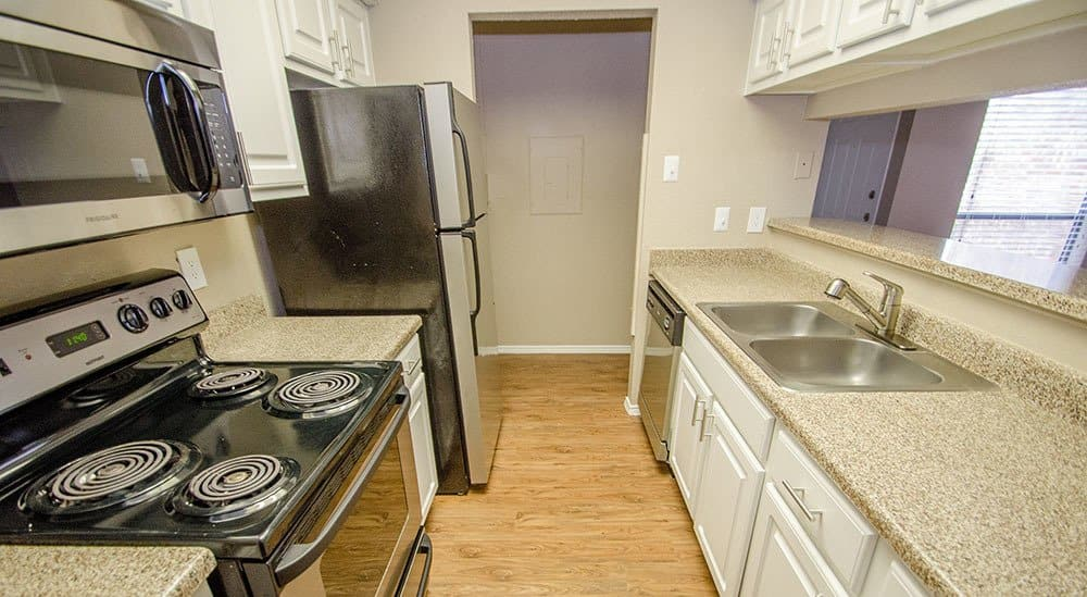 Kitchen in the apartments for rent in Grapevine