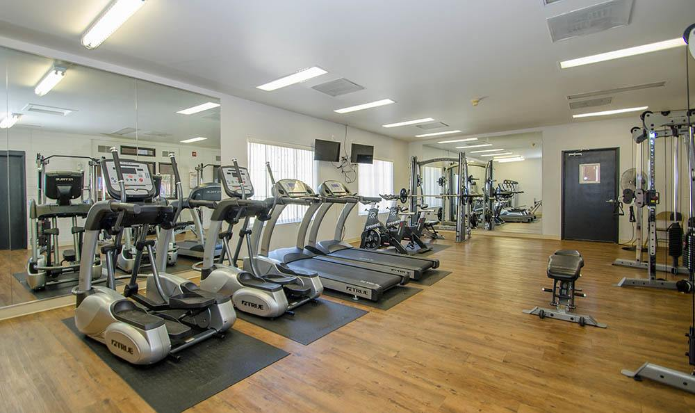 Fitness center at apartments in CO