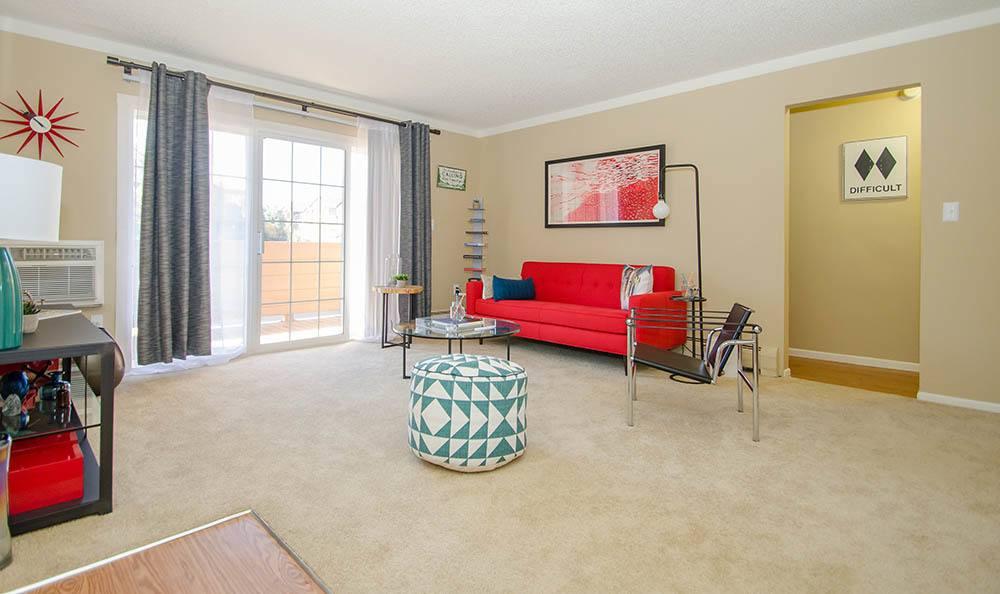 Interior at apartments in Denver