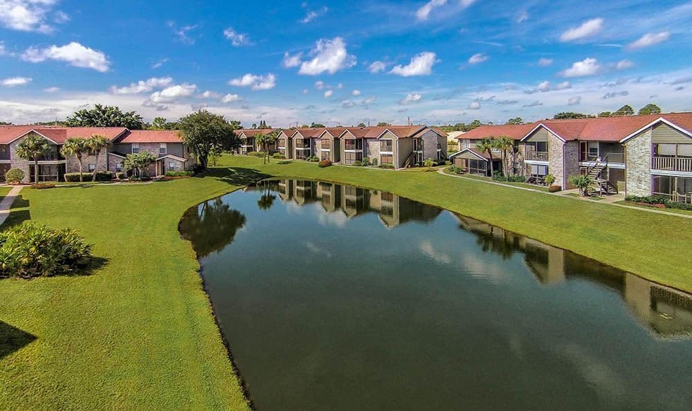 Aerial view of apartments in FL