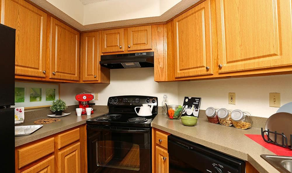 Kitchen at apartments in Orlando