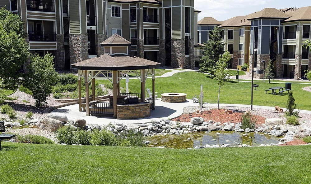 Gazebo at apartments in CO