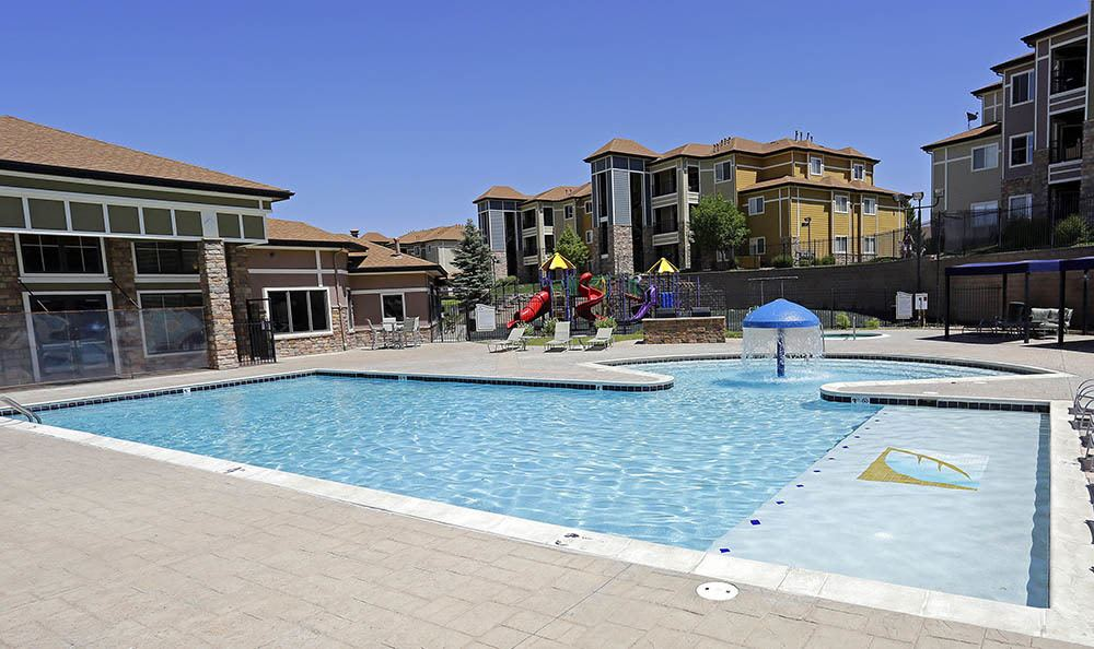 Pool at apartments in Aurora