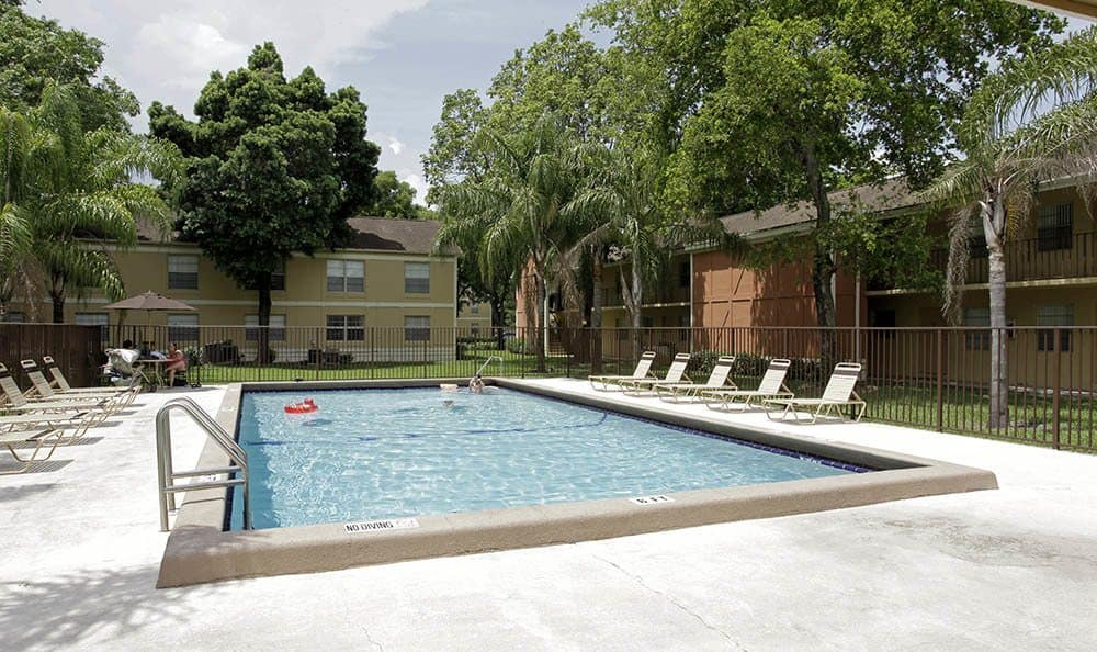 Outdoor pool at apartments in FL