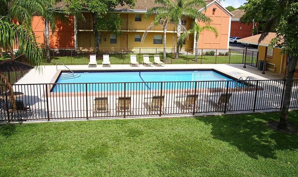 Pool at apartments in Pembroke Pines