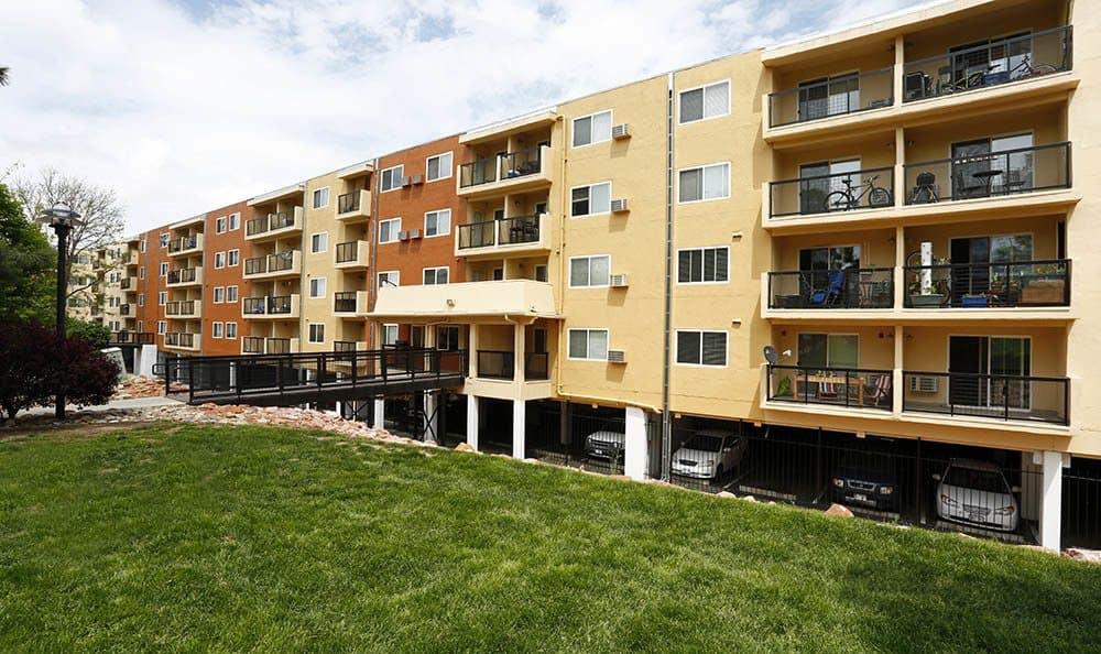 Exterior of apartments in Denver