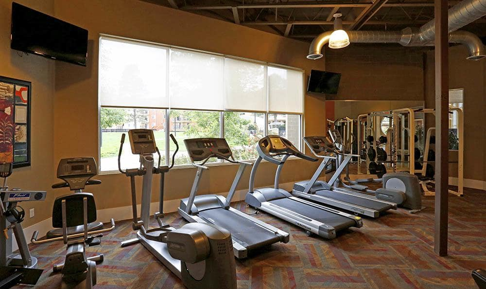 Fitness center at Advenir at Stapleton