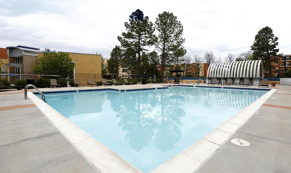 Pool at apartments in CO