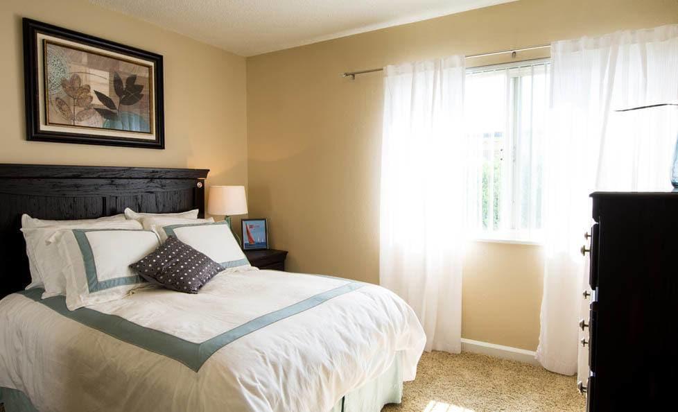 Bedroom at apartments in Colorado Springs