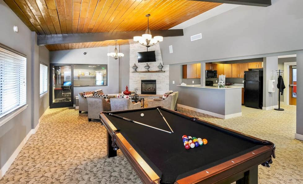 Billiards at apartments in Colorado Springs