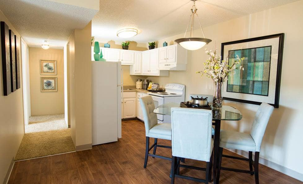 Dining room at apartments in Colorado Springs