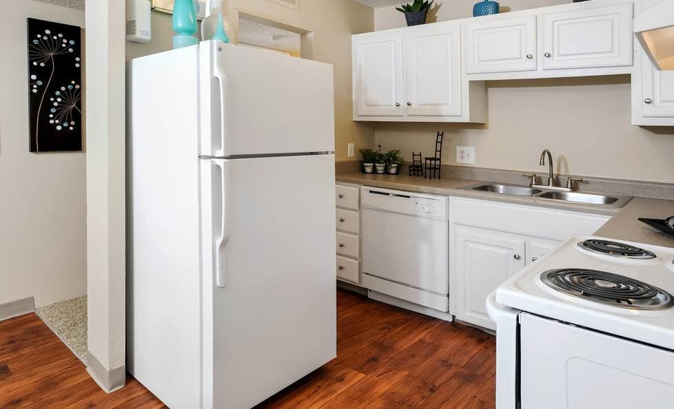 Kitchen at apartments in CO