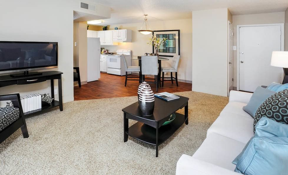 Living room at apartments in CO