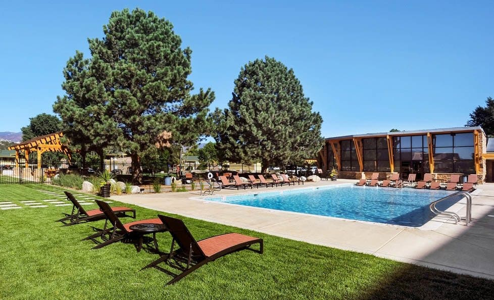 Outdoor swimming at apartments in Colorado Springs