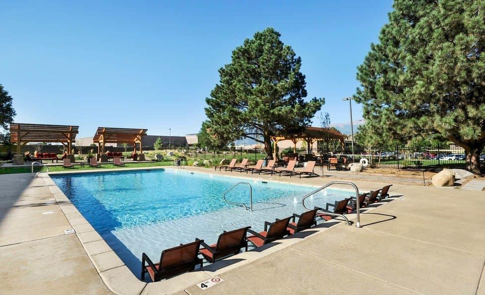 Pool at apartments in Colorado Springs