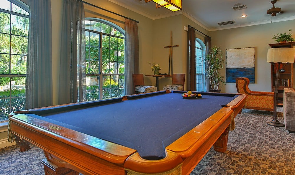 Challenge your new friends and neighbors to a game of billiards in our luxurious clubhouse here at Advenir At Stone Park