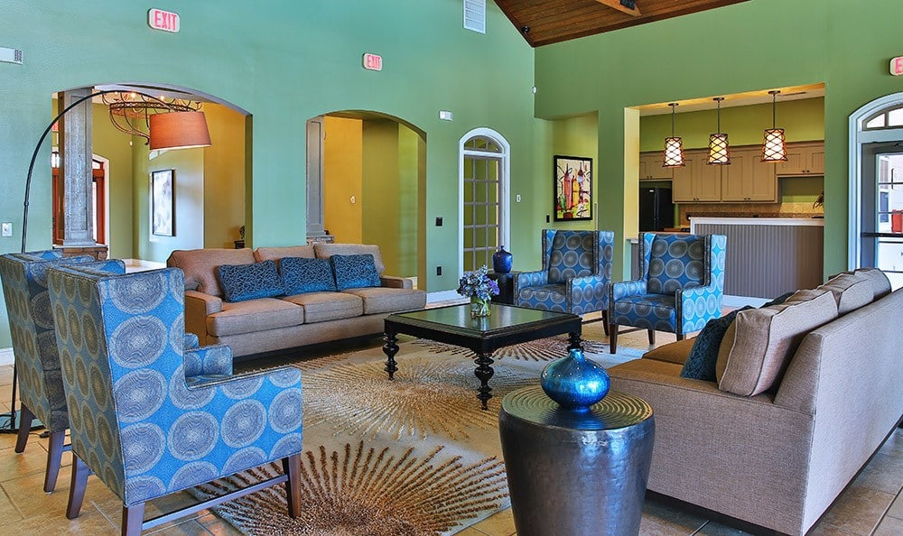 You'll find the common areas at Advenir At Stone Park are spacious, inviting, and designed with our residents in mind