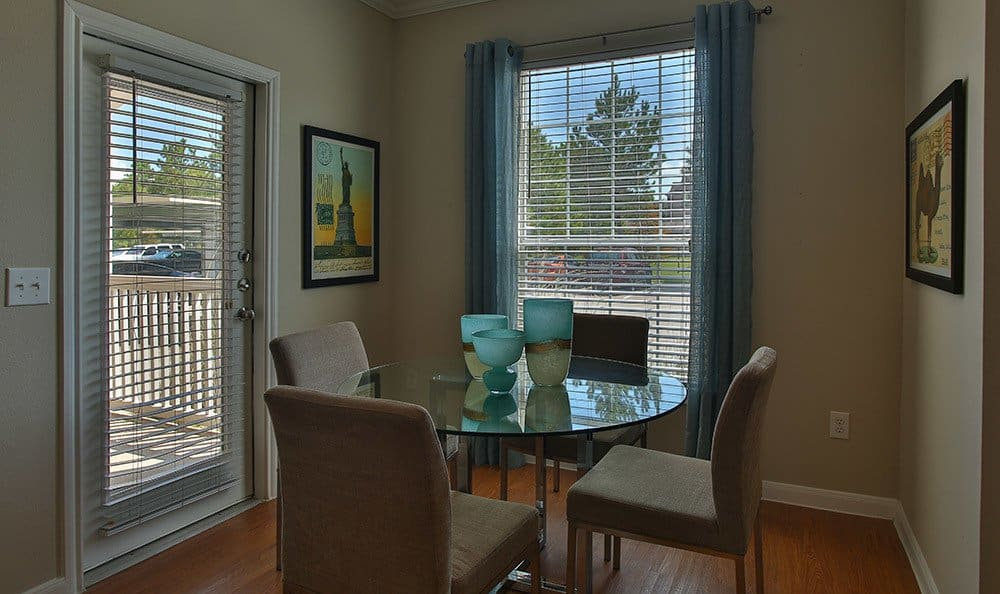 Enjoy your breakfast in the kitchen nook in your new apartment home at Advenir At Stone Park