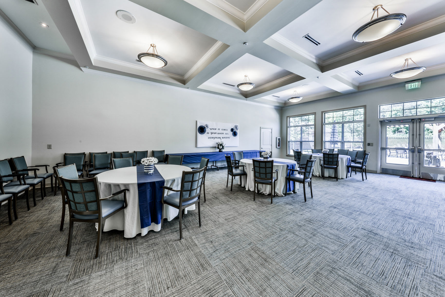 Hope Center Memory Care community dining hall in Fayetteville
