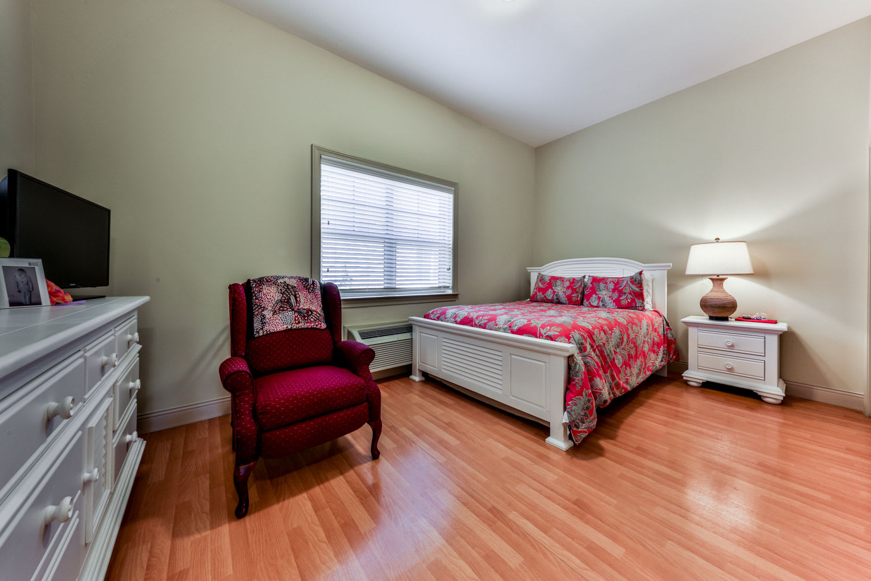 Well decorated bedroom at Hope Center Memory Care in Fayetteville