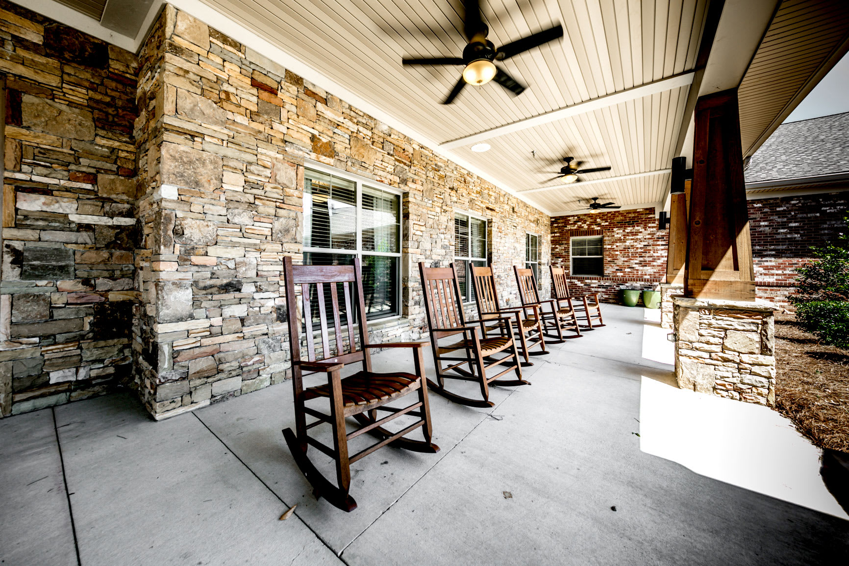 Outdoor area at Hope Center Memory Care in Fayetteville