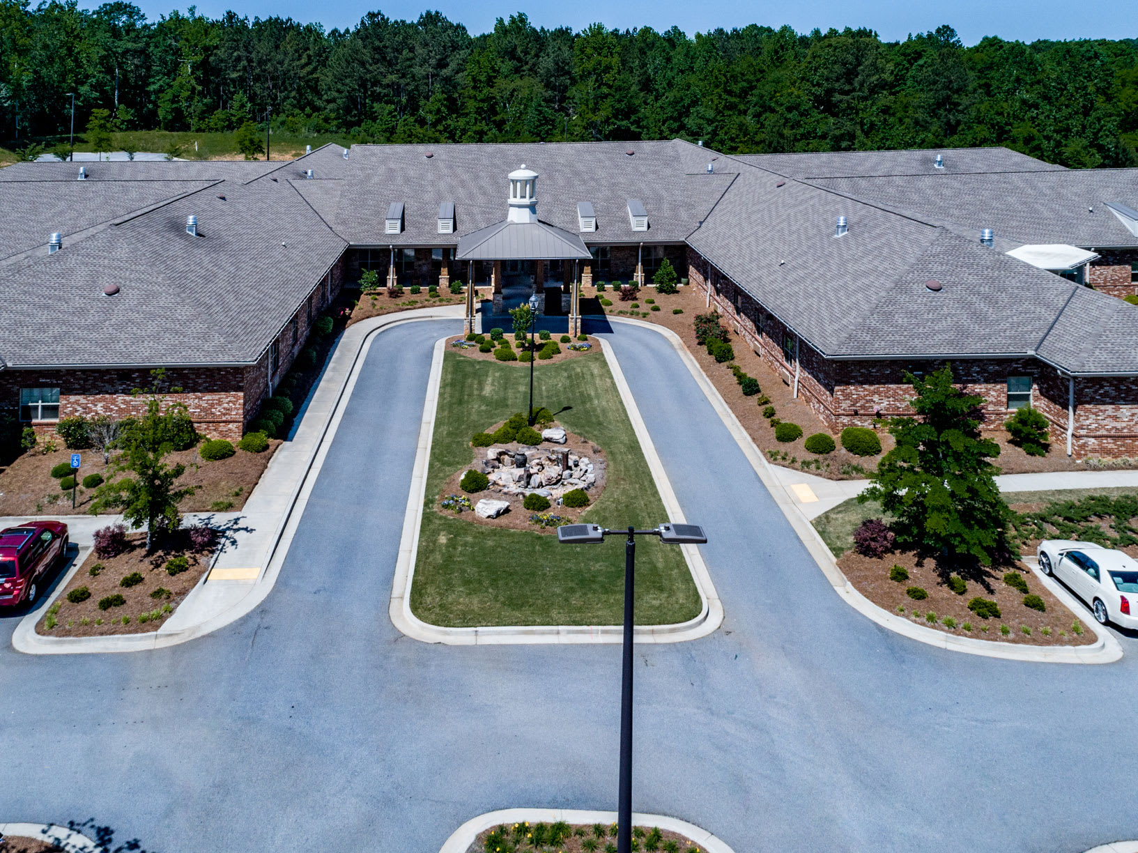 Aerial view of Hope Center Memory Care in Fayetteville