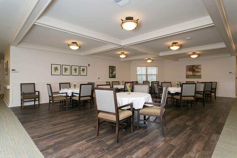 Dining room at Westminster Memory Care