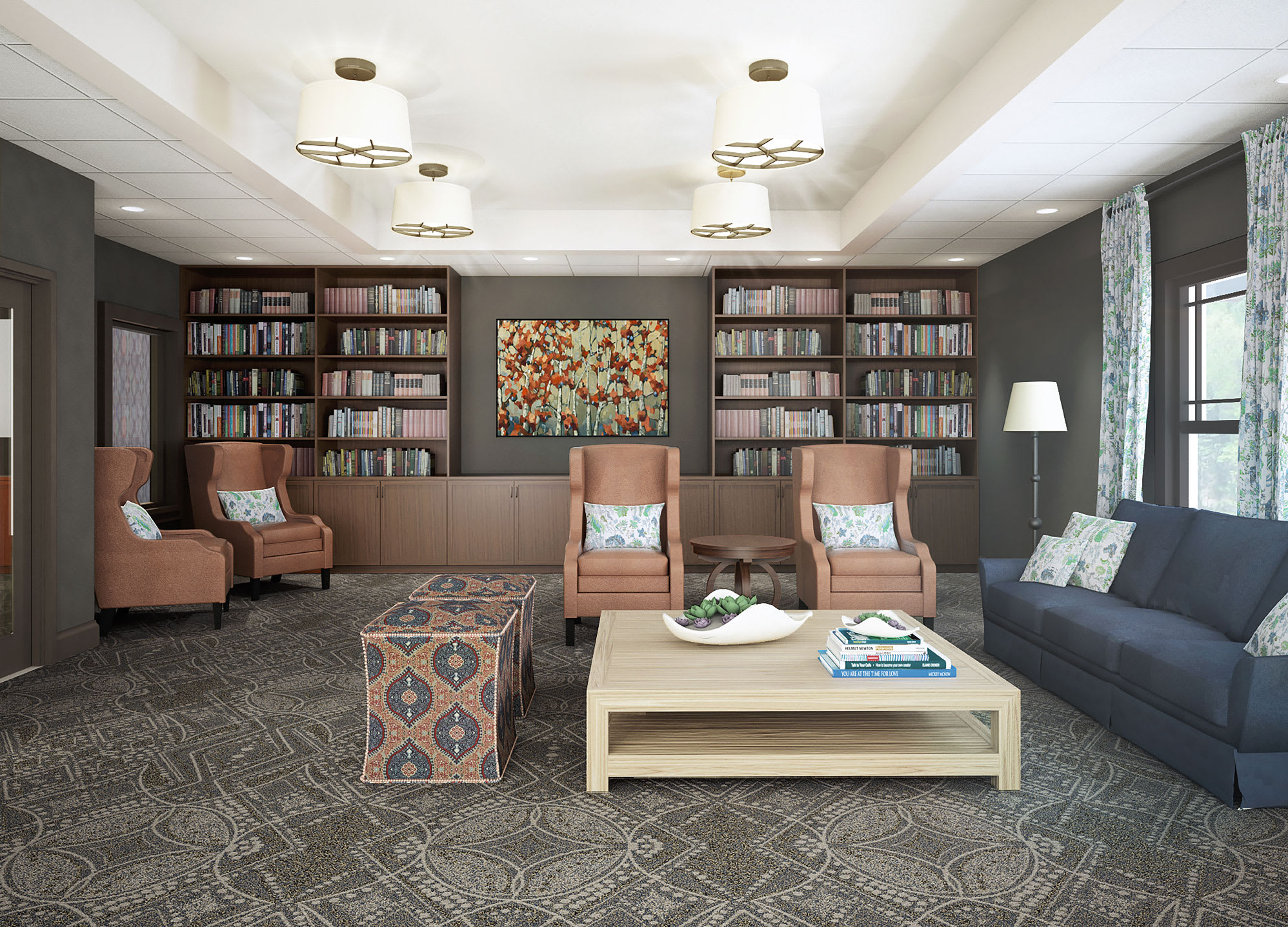 Enjoy a book at The Bluffs at Greystone in Birmingham