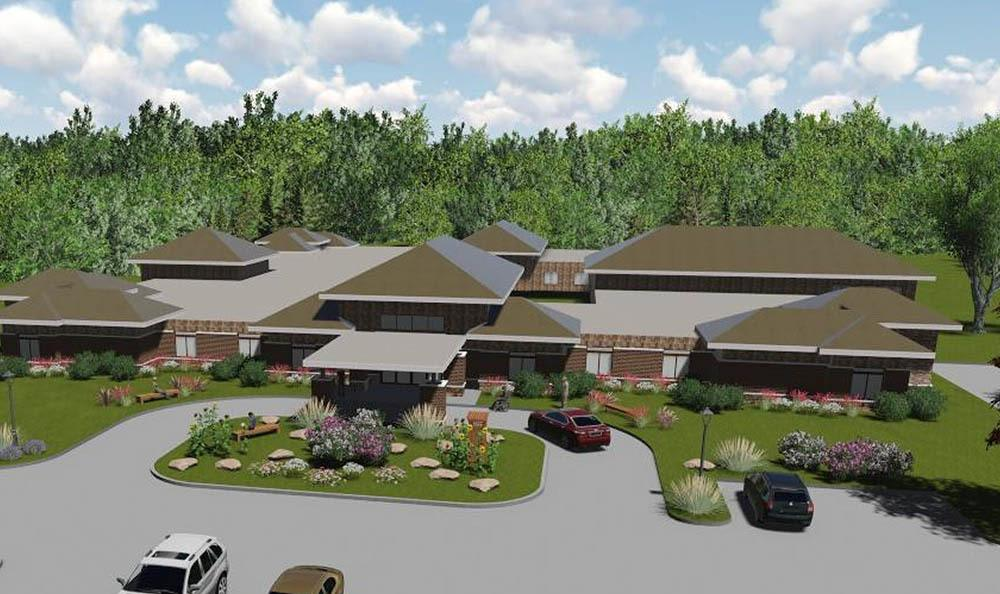 Rendering of senior living in Midlothian, VA