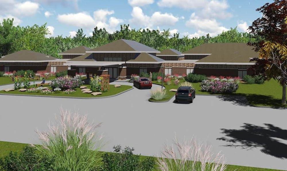 Second rendering of senior living in Midlothian, VA