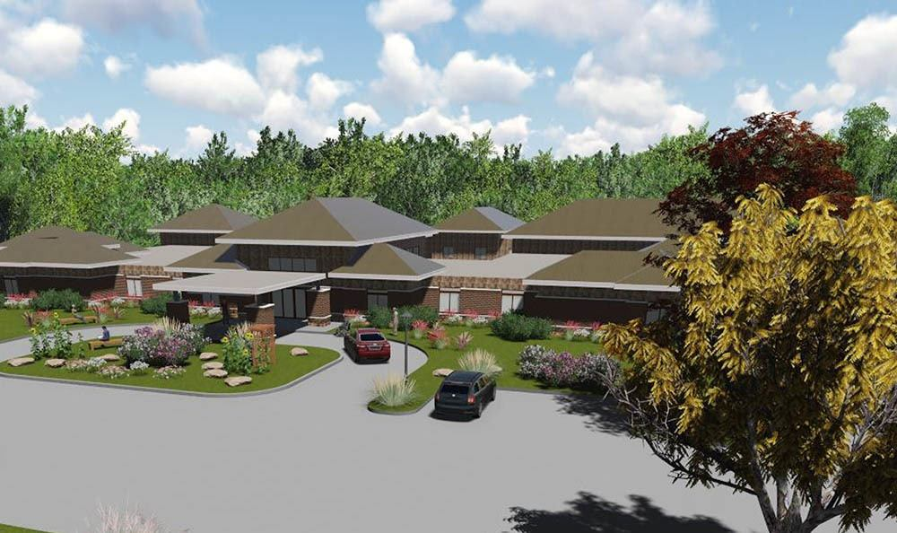 Third rendering of senior living in Midlothian, VA