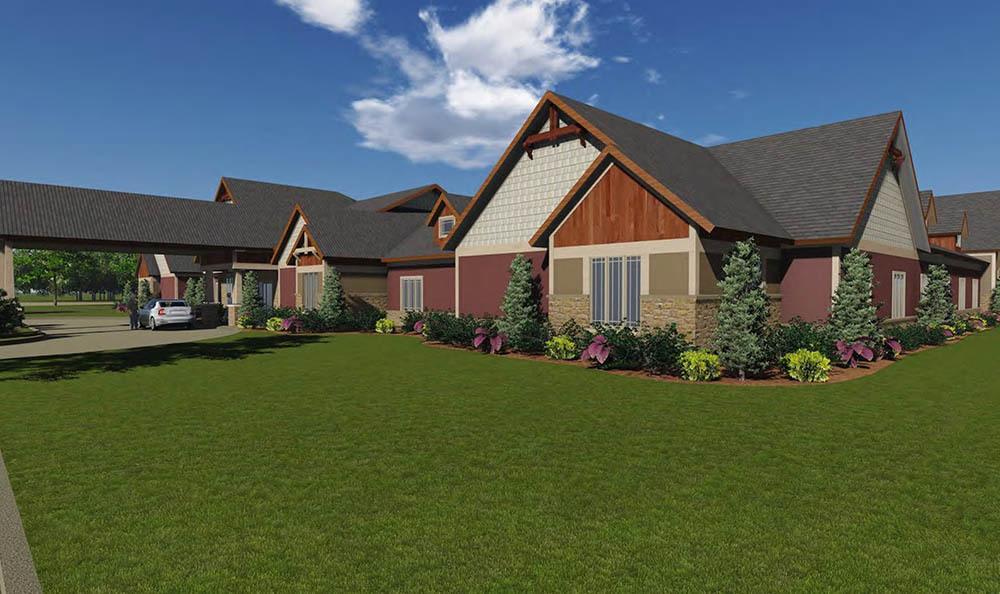 Fifth rendering of senior living in Simpsonville, SC